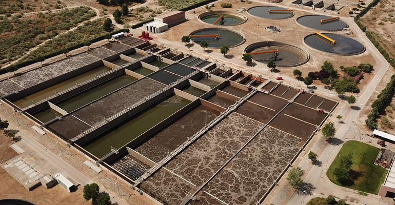 EDAR de Arroyo Culebro, en Madrid, que Acciona opera y mantiene
