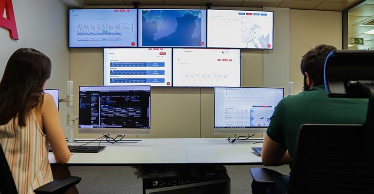 Sala de control del ciclo integral del agua de Acciona, que apuesta por la digitalización en Yuncos