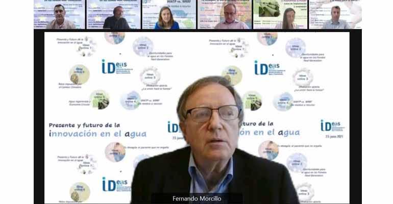 Fernando Morcillo, presidente de AEAS, y algunos participantes más en la sesión de I+D