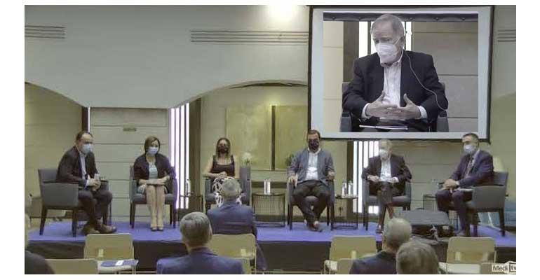 Fernando Morcillo, presidente de AEAS, en el participado en el III Foro del Agua de Castellón, organizado por el periódico Mediterráneo en colaboración con Facsa.