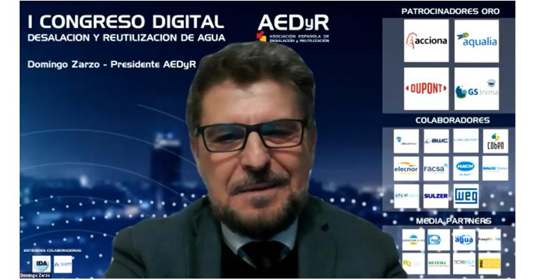 Los avances en la economía circular del agua marcan la primera sesión del Congreso Digital AEDyR
