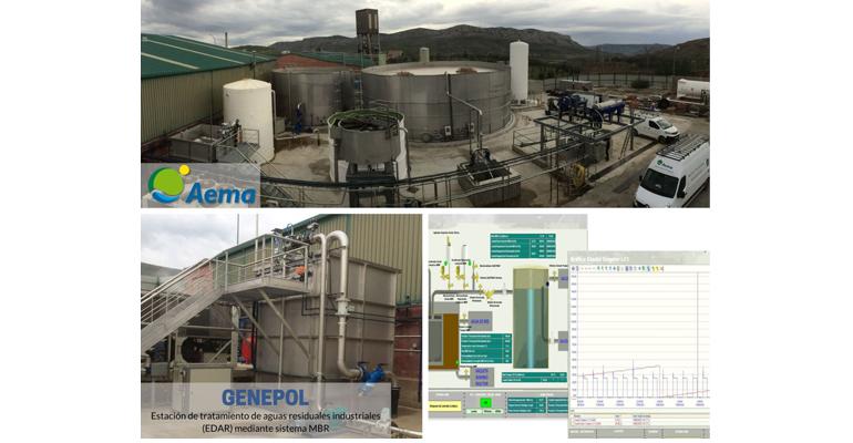Aema inicia la puesta en marcha de la depuradora de aguas residuales de una planta de reciclaje en Escucha (Teruel)
