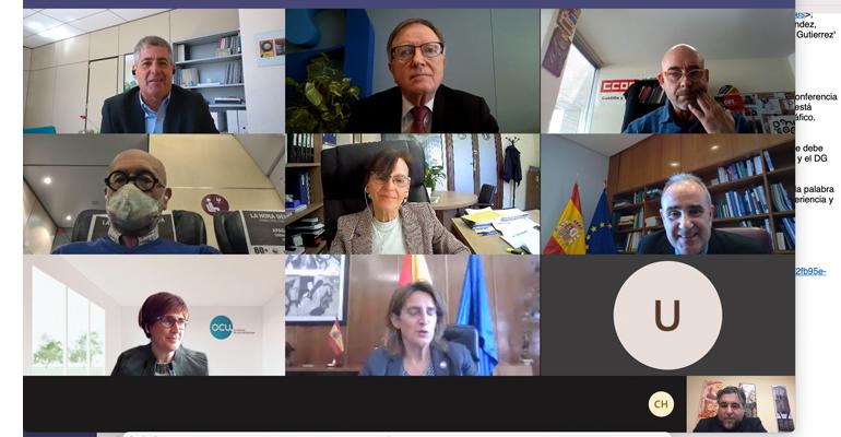 Reunión telemática de la Mesa del Ciclo Urbano del Agua con presencia de AEOPAS