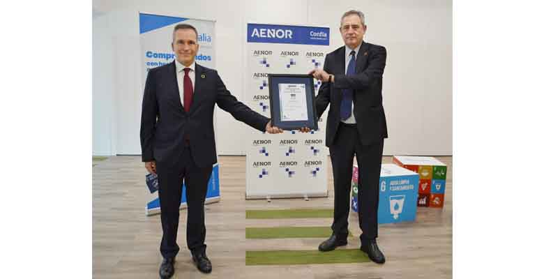 Rafael García Meiro, CEO de AENOR, y Félix Parra, CEO de Aqualia