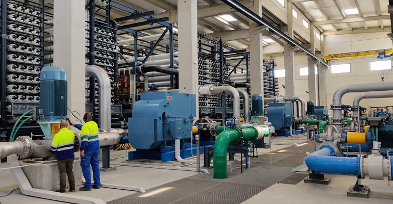 La desaladora de Mutxamel, gestionada por Aqualia, alcanza los 5 hm3 de agua suministrada