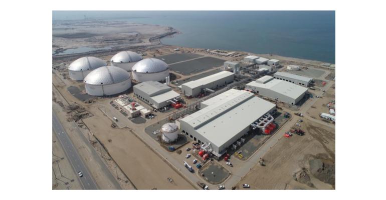 Foto aérea de la zona industrial de Jizán, en Arabia Saudí, donde Aqualia gestionará el abastecimiento del agua