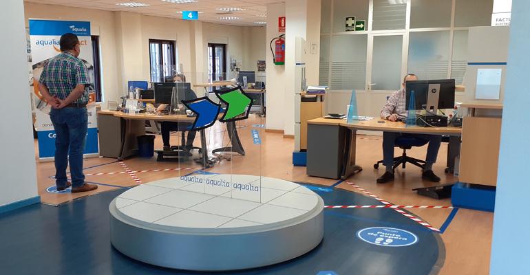 Aqualia reabre sus oficinas de atención al cliente