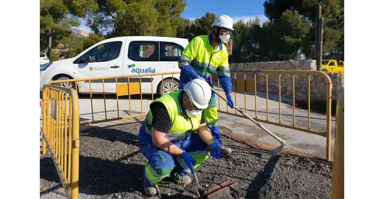 Trabajadores de Aqualia con certificación de competetencias profesionales