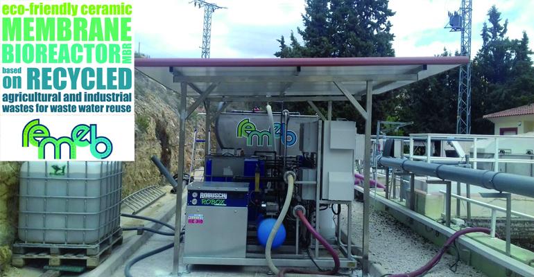 Proyecto REMEB: reutilización de agua mediante membranas  cerámicas low-cost implementadas en un MBR