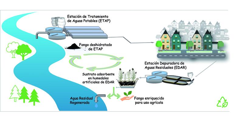 De residuo a sustrato activo en humedales artificiales para el afino de aguas residuales