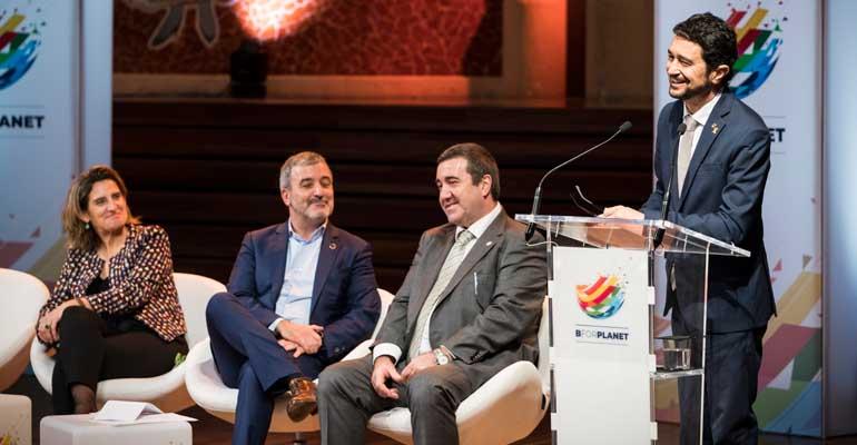 Momento de la presentación oficial de BforPlanet, evento sobre ODS
