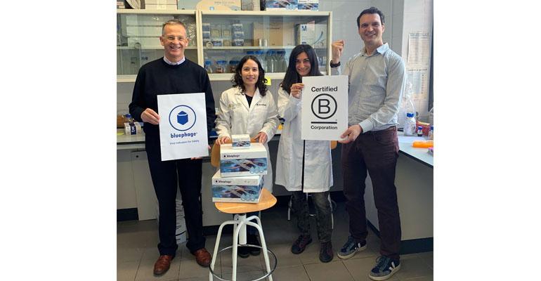 Equipo de Bluephage con la certificación BCorp