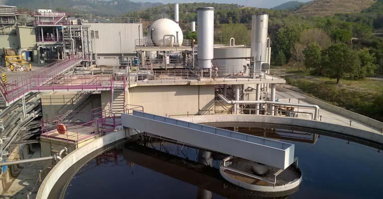 Estación depuradora de aguas residuales industriales de Cadagua para una empresa industrial