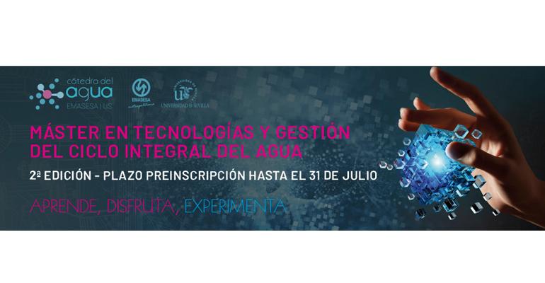 Abierta la preinscripción para la segunda edición del Máster en Tecnologías y Gestión del Agua