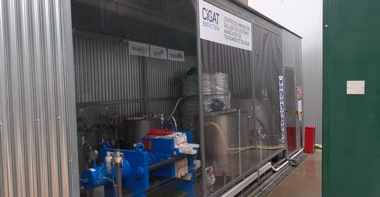 El proyecto Cigat Biofactoría valida dos tecnologías para producir y recuperar recursos de alto valor añadido de las corrientes residuales