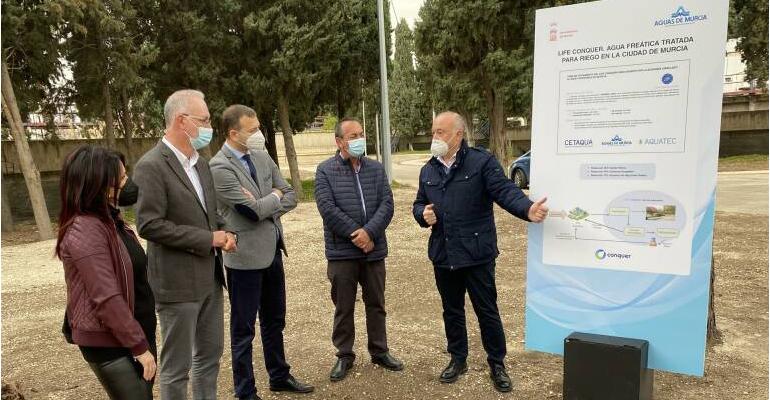 Murcia utilizará agua freática tratada para riego urbano con el proyecto Life Conquer