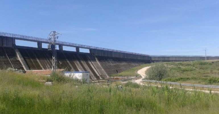 Presa Casar en Cáceres, de la Confederación Hidrográfica del Tajo