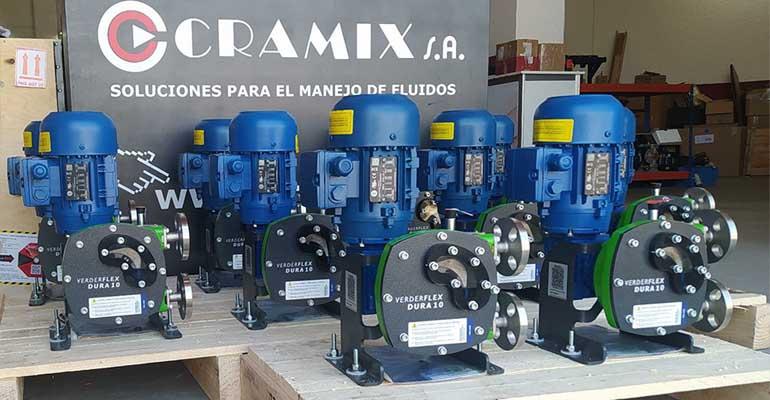 Bombas peristálticas Verderflex suministradas por Cramix