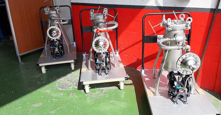 Cramix suministra 3 sistemas completos de bombeo y filtración para un fabricante de pinturas