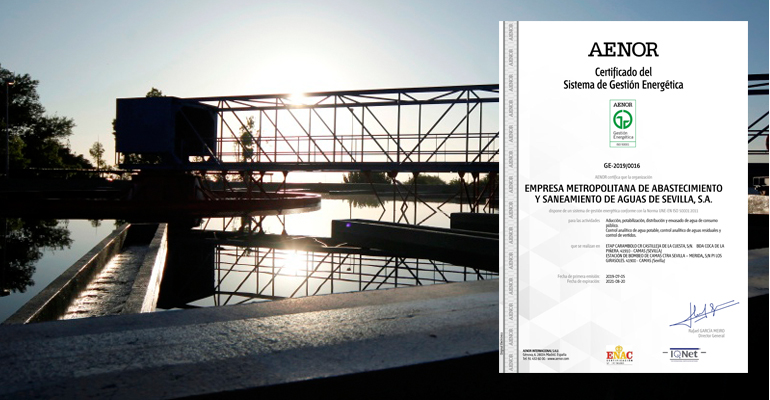 Emasesa obtiene el certificado de gestión energética según la norma ISO 50001