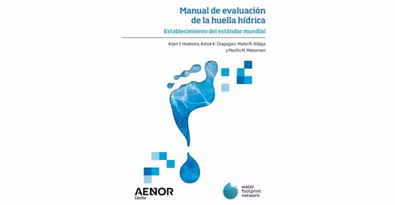 Portada manual sobre huella hídrica