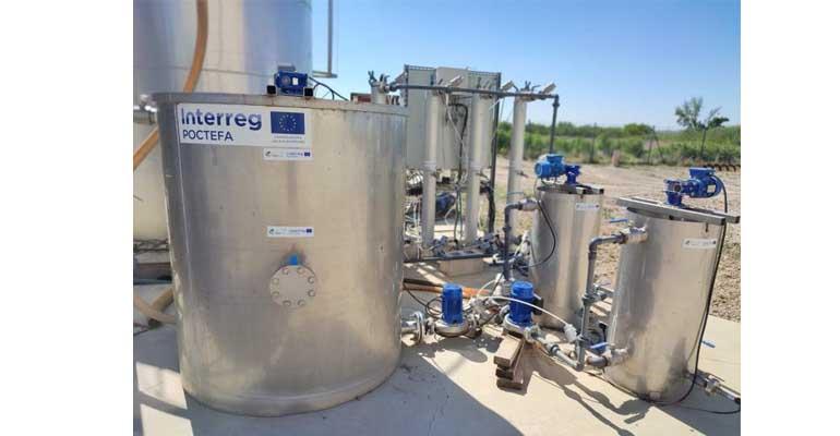 Planta piloto en la EDAR de Tudela de Nilsa para el proyecto Outbiotics sobre eliminación de contaminantes emergentes