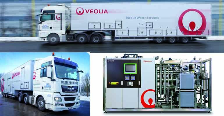 Plantas de alquiler móviles para producir agua purificada par ala industria farmacéutica de Veolia Water Technologies