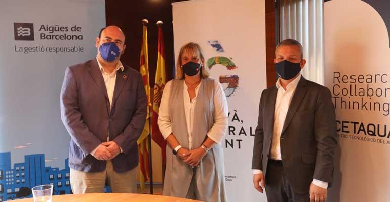 Convenio entre Gavà, Aigües de Barcelona y Cetaqua para potenciar la economía ciruclar y reutilización del agua