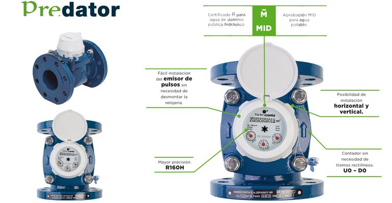 Hidroconta: Contador de gran calibre para agua potable