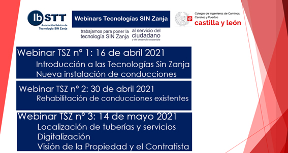 IBSTT lanza una serie de webinars sobre tecnologías sin zanja junto a CICCP CyL