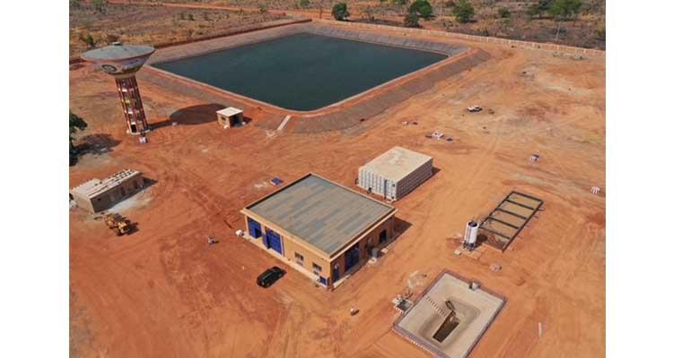 Obras de la planta potabilizadora y demás servicios pra el abastecimiento de agua de Incatema en Senegal