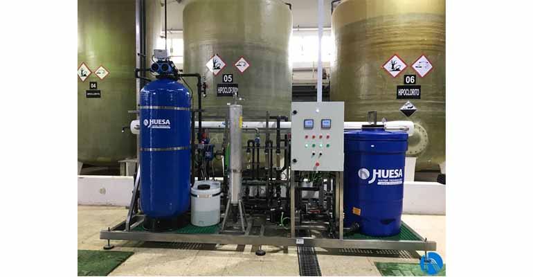 Planta de tratamiento de J- Huesa aplicada para aguas de proceso en una industria de productos de limpieza