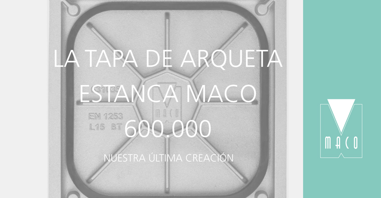 Tapa de arqueta estanca gama 600.000 de Maco