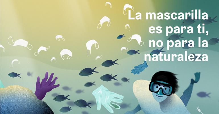 ´La mascarilla es para ti, no para la naturaleza´: campaña institucional para evitar el abandono de residuos higiénico-sanitarios en aguas y entornos naturales