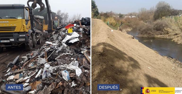 miteco-confederacion-hidrografica-tajo-retirada-residuos-cauce-rio-guadarrama