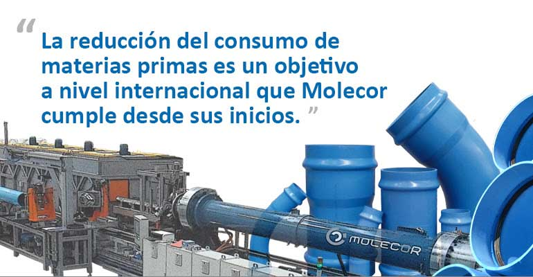 Tecnología punta vs. escasez de materia prima para tuberías de agua. El caso Molecor