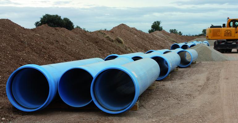 Proyecto de impulsión y balsa para regadío con tuberías de PVC-O