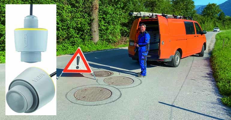 Sensor de nivel con tecnología radar Vegapuls C 21/C 22 de VEGA aplicados en pozos de bombeo en Austria