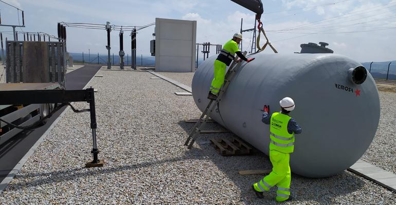 Remosa suministra un depósito de emergencia en una subestación elétrica en Galicia