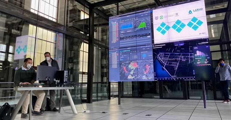 Presentación en Sacmex de la plataforma de datos con tecnología de GoAigua de Idrica para el servicio de aguas