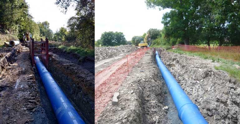 Tubería PAM Natural de Saint-Goban PAM en el abastecimiento de agua del sistema Uribe-Kosta y Mungiesado-Bakio del Consorcio de Aguas Bilbao Bizkaia