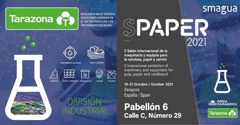 La División Industrial de Tarazona participa en Spaper y Smagua 2021