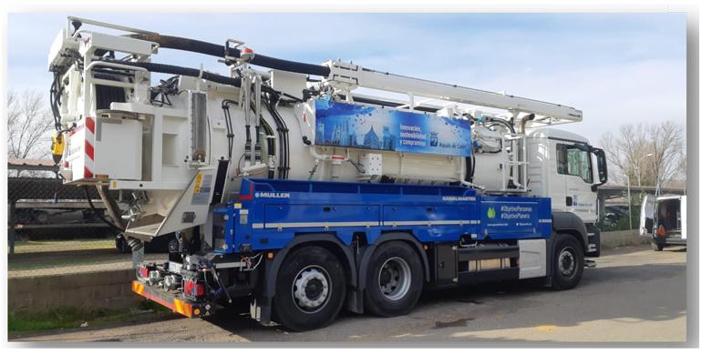 Tecsan suministra a Aguas de León un camión para la limpieza del alcantarillado