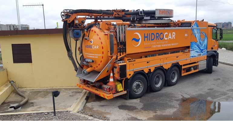Tecsan colabora con Hidrocar en la limpieza de colectores gracias al suministro de un camión Müller Helicopter