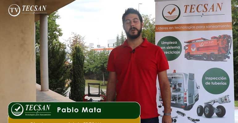 Pablo Mata, técnico comercial de Tecsan, resuelve todas las dudas de la solución Picote de rehabilitación de tuberías domésticas