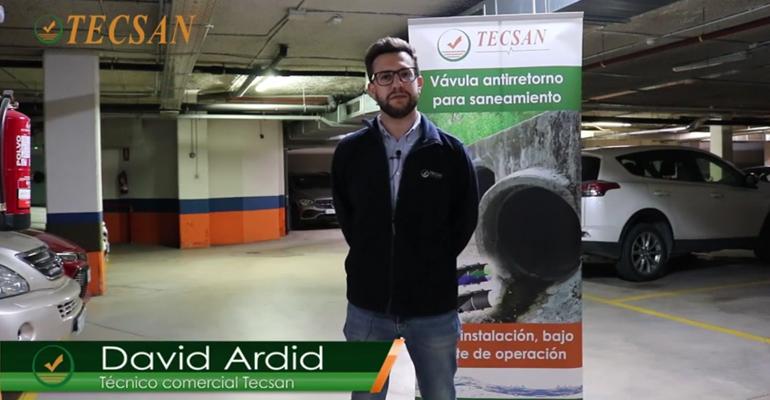 Vídeo de David Ardid, técnico comercial del Grupo Mejoras, explicando los tipos de válvulas WaStop
