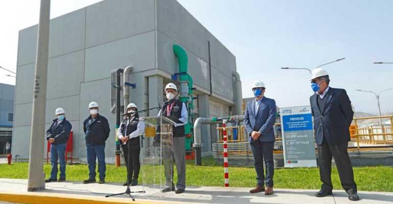 Francisco Sagasti, presidente de Perú, y otras autoridades en su visita a la planta del proyecto Provisur, con presencia de Tedagua. A