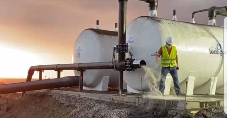 Las desaladoras de Tedagua comienzan a producir agua de riego en la isla de La Palma