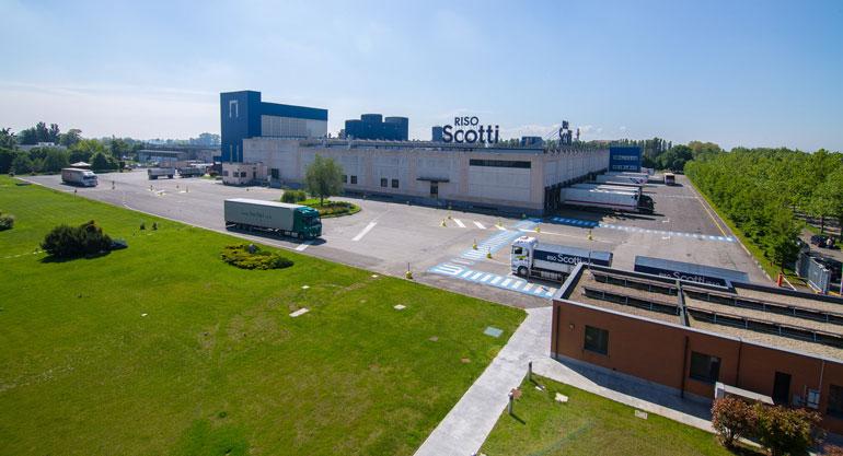 Fábrica de Riso Scotti donde Veolia realizará una nueva estación depuradora de aguas residuales industriales