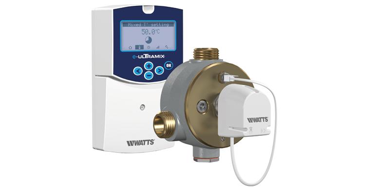 Watts: Sistema electrónico con válvula mezcladora antilegionella